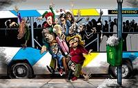 Crowded public bus