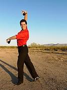 Hispanic male flamenco dancer posing