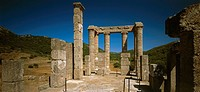 Italy, island Sardinia, Tempio di Antas destination sight culture, construction, buildings, architecture, ruin, fragments, temples, temple-ruin, colum...