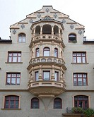 Germany, Bavaria, Munich, dear-man-street 8, house-facade,