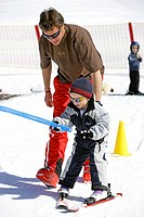 Child, ski course, ski-track, ski-school, ski instructors,