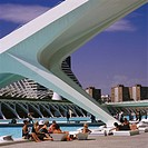 Spain, Valencia, Ciudad de read, Artes y read gaze L´Umbracle, no property release, Ciencias, science-museum, Valencia-Stadt, city view, culture, cult...