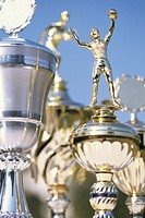 Goblets, detail, winner-goblets, sport-prices, trophies, Siegestrophäen, awards, triumph, price, success, honor, first, better, first, best, honor, vi...