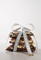 Chocolate, stack, measurement-band,