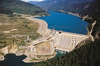Revelstoke dam, Columbia River. British Columbia, Canada