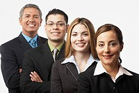 Group of Hispanic businesspeople