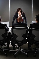 Young Businesswoman Leading Meeting