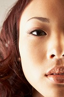 Close up of Asian woman's face