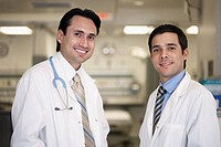Portrait of Hispanic male doctors