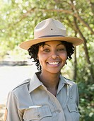 Close up of African American female Park Ranger (thumbnail)