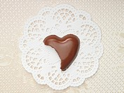 Bitten chocolate heart