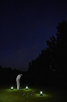 Golfer at night