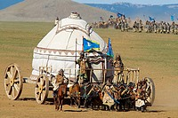 Mongolia. 800th birthday of mongol empire