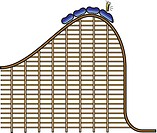 A person screaming as the rollercoaster is about to descend