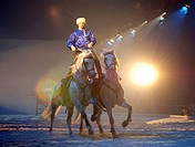 Cossack, on, two, horses, Apassionata, Horses´, Gala, Night