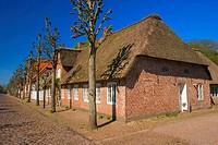 Reed, roofed, house, Mogeltondern, Nordslesvig, Denmark, Mögeltondern,