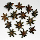 Dried, Star, Anise, fruits, Illicium, verum, Badian, Anise,