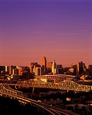 DOWNTOWN SKYLINE. CINCINATTI OHIO. USA