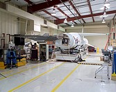 The first of three X_43A hypersonic research aircraft was mated to its modified Pegasus® booster rocket in late January at NASA´s Dryden Flight Resear...