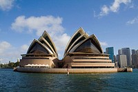 Sydney Opera House, as seen from the harbour. New South Wales, Australia