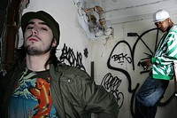 Two young men in urban clothing (thumbnail)