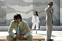 View of three colleagues in an office attire (thumbnail)