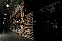 View of a well stocked warehouse (thumbnail)