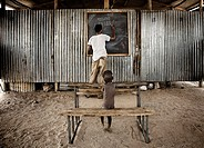 Dasanech boy at school. South Ethiopia (thumbnail)