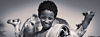 Afar boy and camels. Ethiopia. African tribes