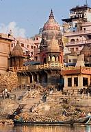 Manikarnika Ghat, Varanasi. Uttar Pradesh, India