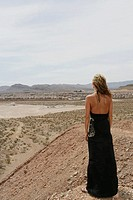 Woman looking out on the horizon