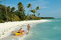 Beach on Resort Island, Maldives, Indian Ocean