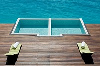 Swimming pool in Resort hotel, Maldives