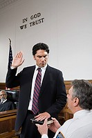 A witness swearing an oath