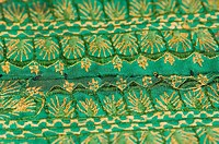Close-up of embroidery on a fabric