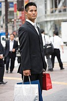 A businessman shopping