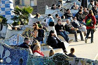 Parc Güell by Gaudí, Barcelona. Catalonia, Spain