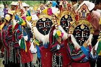 the Tibetan mask