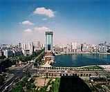 the scene of Bai Lake in Wuhan city,China