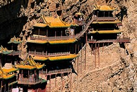 View of Temples of hanging in the air,Shanxi