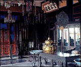 the inner scene of the traditional Chinese building in the Summer Palace,Beijing