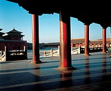 Pillars at the Gates of Supreme Harmony in Forbidden City