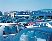 Car market at Asian Games Village,Beijing