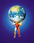Man Supporting Globe