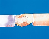 Metal Illustration, hand shake
