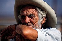 Rancher. Photographed on a ranch, near Lone Pine Station, Route 395, eastern Sierra Nevada Mountains, California, USA.