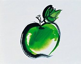 Illustration, Green Apple
