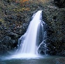 Anmon waterfall, The third waterfall, NishiMeya, Naka Tsugaru, Aomori, Japan, World Heritage