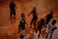 Displaced Ugandan children playing. These children are staying at St Monica´s, a Catholic_run support centre and night refuge for young people who hav...