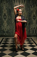 Young woman dancing